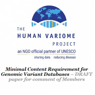 DRAFT paper for comment of Members - Minimal Content Requirement for Genomic Variant Databases