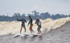 Riding a Wave to a World Record (or two!)